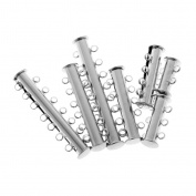 MonkeyJack 7 Pieces Stainless Steel 2/3/4/5/6/7/8/ Strand Slide Magnetic Clasps Jewellery Findings for Necklace Connector