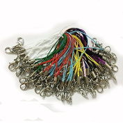 7.1cm 100pcs Strap Charm Cords Lariat Clip Lobster Clasp using as Trinkets, Charms, Crystal, Keyring, Badge holder & other decoration or other handmade jewellery making accessories