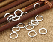 Luoyi 10pcs Sterling Silver Jump Rings, Open Jump Rings