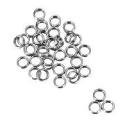 20pcs Gold Plated Stainless Steel Round Open Jump Rings for Jewellery Making 4mm