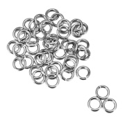 200pcs Silver Tone Stainless Steel Open Jump Rings for Jewellery Making 10mm x 1.4mm