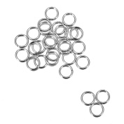 30pcs Gold Plated Stainless Steel Open Jump Rings for Jewellery Making 6mm