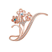Floral Brooches 2 Pcs Alloy Vintage Jewellery Pin Jewellery Accessories Wedding Gift