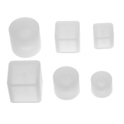 Coobbar 6pcs/set Hole DIY Silicone Mould Crystal Silicone Mould Beads Square DIY Pendant Jewellery Mould