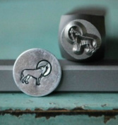 8mm Wolf Metal Punch Design Jewellery Stamp