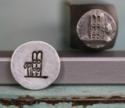 7mm Snow Skis Metal Punch Design Jewellery Stamp