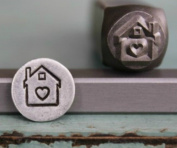 8mm House with Heart Metal Punch Design Jewellery Stamp