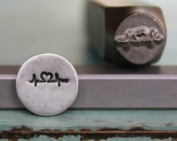 8mm Heartbeat Metal Punch Design Jewellery Stamp