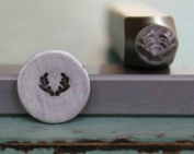 5mm Deer or Elk Antler Metal Punch Design Jewellery Stamp