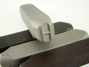 """1.3cm Letter """"H"""" Stamp-Punch-Hand-Tool-Gold Bar-Silver-Trailer-Metal-Leather"""