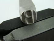 """1.3cm Letter """"B"""" Stamp-Punch-Hand-Tool-Gold Bar-Silver-Trailer-Metal-Leather"""