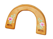 Ownstyle Brown Stamping Flower Patterns Wood Purse Handle Purse Strape Purse Handles For Sewing 2 Pcs A Packs