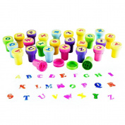 26 pcs A-Z Alphabet Stamps Self-ink Stamps Colourful Letters Stamps Set