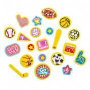 180 Sports Hugs Peel Off Foam Stickers~Arts & Crafts~Scrap Booking~School
