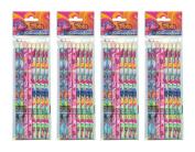 4-Pack Set Dreamworks Trolls 8ct Coloured Pencils