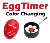 Red Apple Heat Sensitive Hard & Soft Boiled Egg Timer Colour Changing Indicator Tells When Eggs Are Ready – Watch Colour Change For SOFT MEDIUM Or HARD BOILED – Super-Reliable Kitchen Tool -Gift