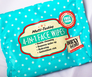 Dirty Works Multi-Tasking 4-in-1 Face Wipes
