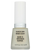 Revlon Quick Dry Base Coat, 15ml + FREE Luxury Luffa Loofah Bath Sponge On A Rope, Colour May Vary