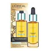L'Oreal Paris Nutri Gold Extraordinary Facial Oil for Dry Skin, 1 Oz (30ml) + FREE Luxury Luffa Loofah Bath Sponge On A Rope, Colour May Vary