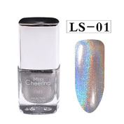 Coohole 7 ML Glitter Bling Glossy Nail Effect Nail Powder Long-lasting No Polish Foil Nails Art