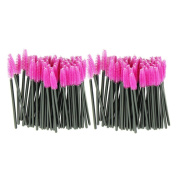 Synthetic Fibre One-Off Disposable Eyelash Brush, Pack of 100