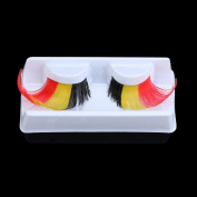 Above 1.5cm Fancy and Colourful Soft Long Feather Hand-made False Eyelashes Natural Long and Curly Good for Dance Halloween Costume by PSFS