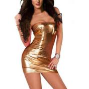 Fullfun Women Hot Sexy Patent PU leather Stripper miniskirt mini skirt