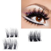 CSSD NEW Ultra-thin 0.4mm Magnetic Eye Lashes 3D Mink Reusable False Magnet