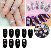 Nail Art Rhinestone Ab White Crystal 1440pcs/bag Shining Non Hotfix Flatback Rhinestone Decorations for Nails SS16