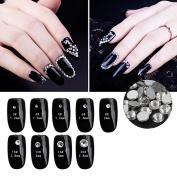 Nail Art Rhinestone Clear White Crystal 1440pcs/bag Shining Non Hotfix Flatback Rhinestone Decorations for Nails SS20
