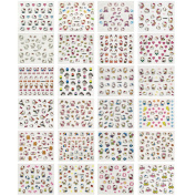ALLYDREW 24 Sheets Hello Kitty Nail Stickers Set Hello Kitty Nail Art Nail Decals