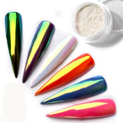 Iuhan Sparkling Neon Nail Glitter Powder Nail Art Chrome Pigment Manicure Dust Nail Art Decor for Nail Beauty