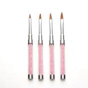 Iuhan 4pcs/set UV Gel DIY Nail Art Brush Polish Painting Pen Kit For Salon Manicure for Nail Beauty