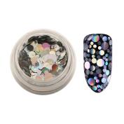 Iuhan Stunning Nail Silver Glitter Powder Nail Art Sequins Mixed Nail Art 3D Decoration