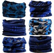 Headwear Head Wrap Sport Headband Sweatband 220 Patterns Magic Scarf 12PCS & 6PCS 12 in 1 By VANCROWN