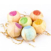 6 Pure Natural and Organic Oils Bath Bombs Salts Handmade Bubble Ball Essential Oil to Relief from Stress by PSFS