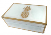 Glass Box Pineapple Accent 21cm X 13cm X 8.9cm