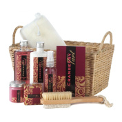 Spa Set For Women, Cranberry Tart Scented Body Care Bath Gift Baskets For Women