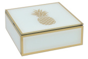 Glass Box Pineapple Accent 15cm X 15cm