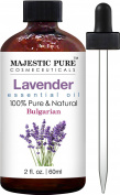 Majestic Pure Bulgarian Lavender Essential Oil, Therapeutic Grade, Authentic 100% Pure and Natural Lavender Oil, 60ml