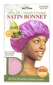 Donna Collection Olive Oil Treatment Vitamin E Treated Satin Bonnet Extra Large Pink