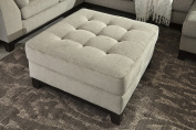 Beckendorf Contemporary Fabric Chalk Colour Tufted Oversized Accent Ottoman
