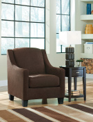Maier Contemporary Walnut Colour Fabric Accent Chair