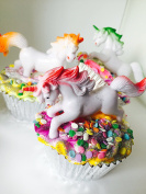Unicorn Dreams Cupcake Bath Bomb - Made in different colours - pink,blue,green,orange