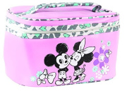 Disney Minnie Mouse Pink Vintage Style Print Train Case by Disney Junior