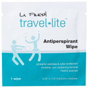 La Fresh Travel Lite Antiperspirant Wipes for Men and Women, Fresh Scent, 200 count