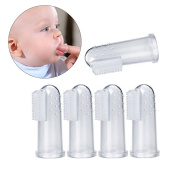 ULTNICE 5pcs Toothbrush Oral Massager Infant Finger Teething Brush for Teeth Cleaning