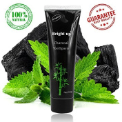 P & J Health Activated Charcoal Teeth Whitening Toothpaste - Organic Bamboo Charcoal Tooth Paste Kit-DESTROYS BAD BREATH & REMOVES COFFEE STAINS