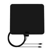 HDTV Antenna- VIEWTEK Amplified Digital Indoor TV Antennas, 50 Mile Range with Amplifier, 4m Copper Coaxial Cable and USB Power Supply