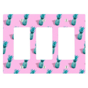 Pineapple Cute Pattern Retro 3 Gang Decorator Dimmer Wall Plate
